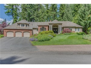 Completely remodeled two story on private lot in sought after Cr